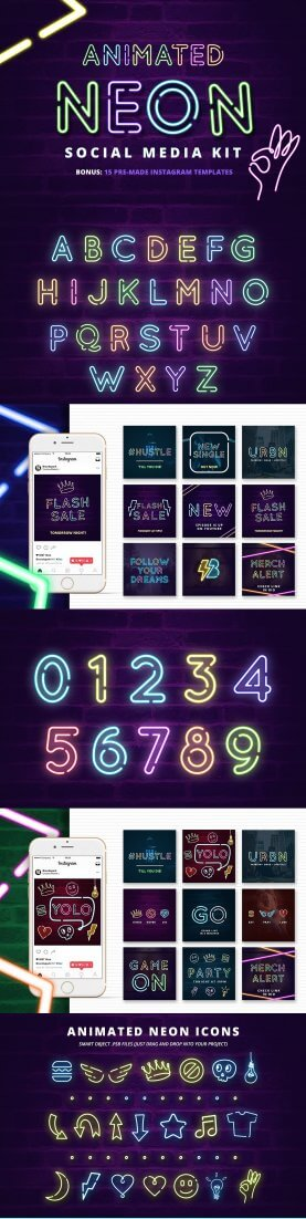 Brandspark-Neon-277x1102 A1 Social Media Animated Neon Templates %shoutout