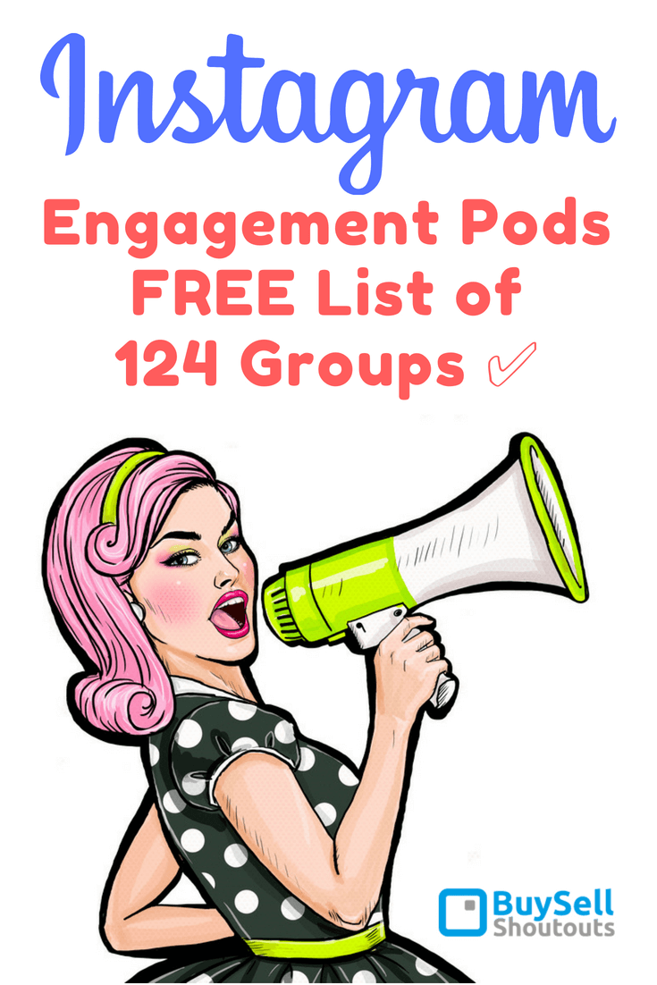 Instagram Engagement Pods - FREE List of 124 Groups ✅ Engagement rate for Twitter and Facebook is about 0.5-1% same content on Instagram has engagement rate of 3-6%