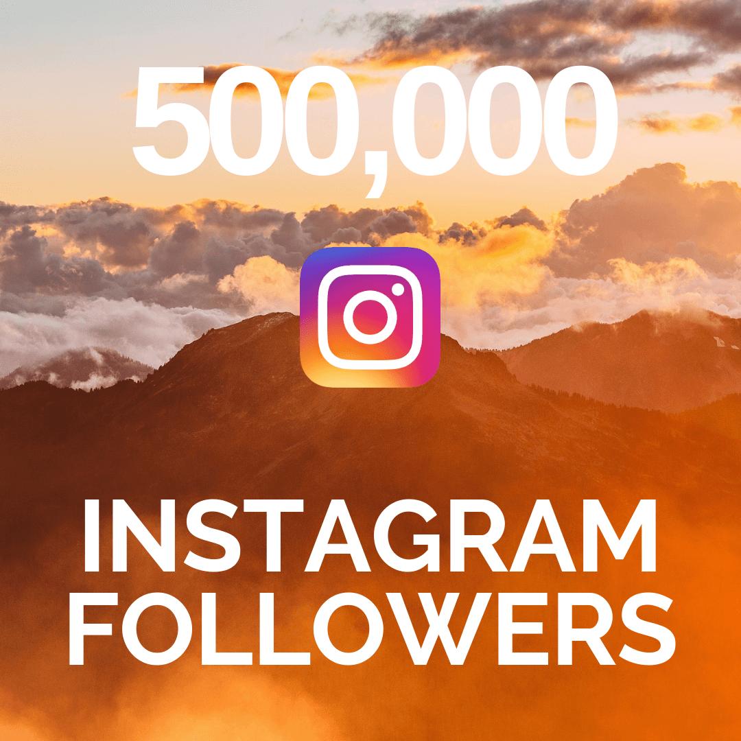 500,000 Instagram Followers