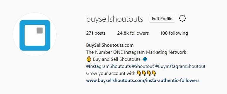 BuySellShoutouts-Instagram-Biography Learn How Instagram Drives an Explosive Sales Increase to Your E-commerce Business %shoutout