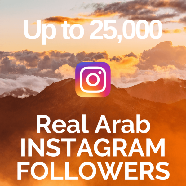 Buy up to 25,000 Real Arab Instagram Followers