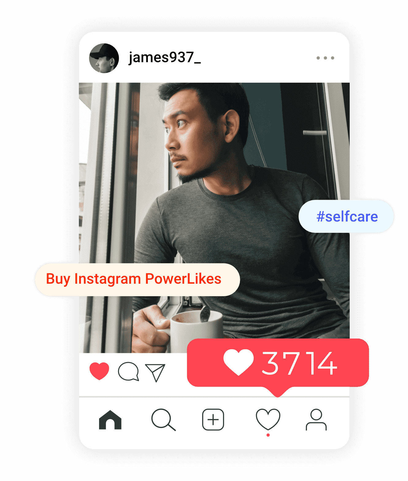 an image of james who is a recent customer of instagram powerlikes from buysellshoutouts.com