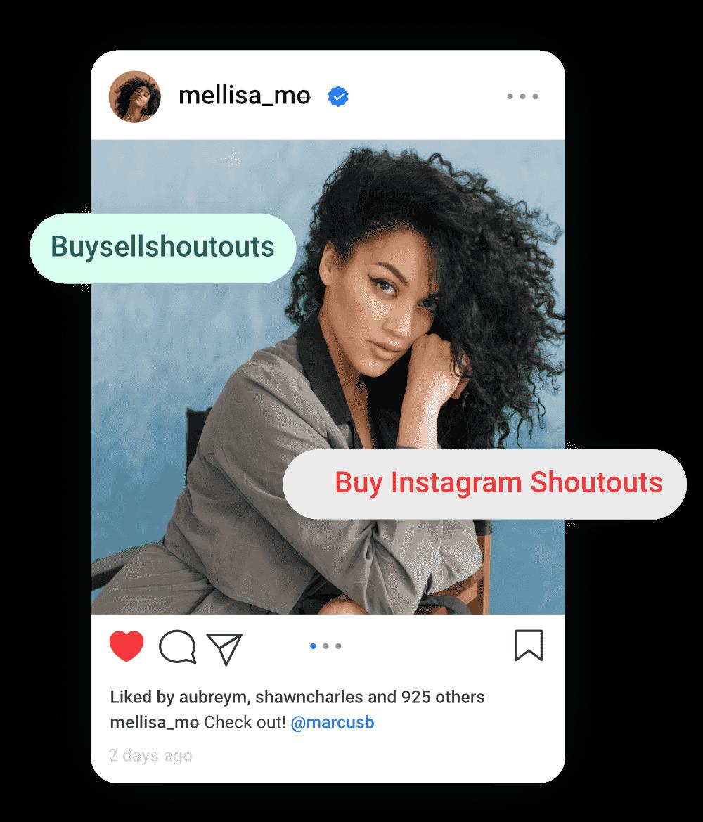image of influencer mellisa mo selling shoutouts on buysellshoutouts.com