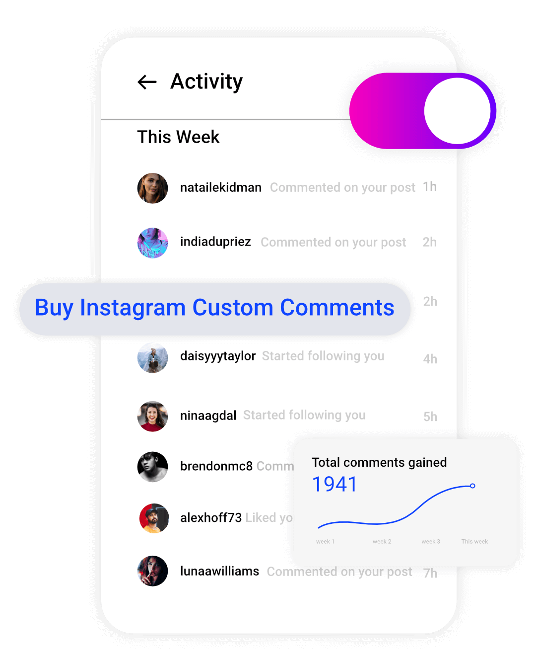 image of instagram custom comments available from buysellshoutouts.com