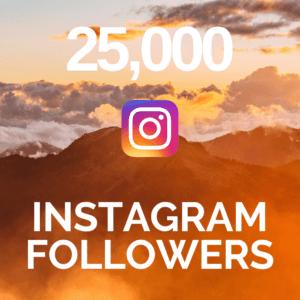 25,000 Instagram Followers