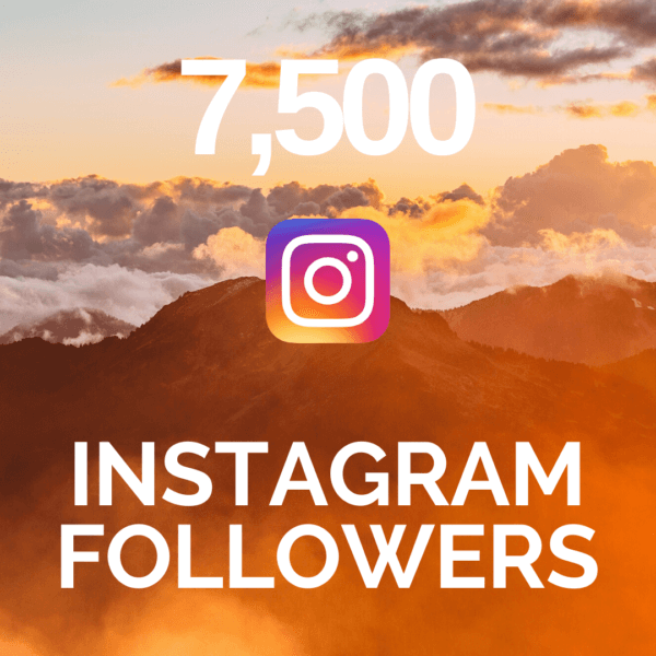 7500 Instagram Followers from BuySellShoutouts.com